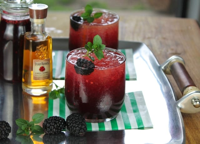 Four Roses Blackberry Mint Julep Cocktail