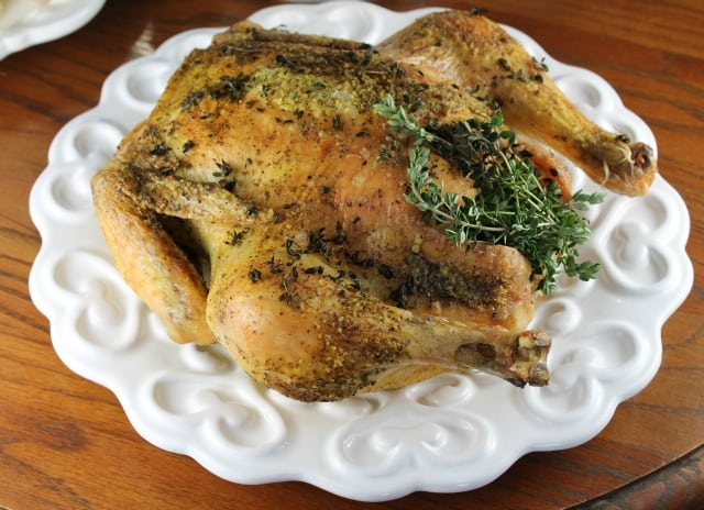 Herbed Roasted Chicken from Miss in the Kitchen