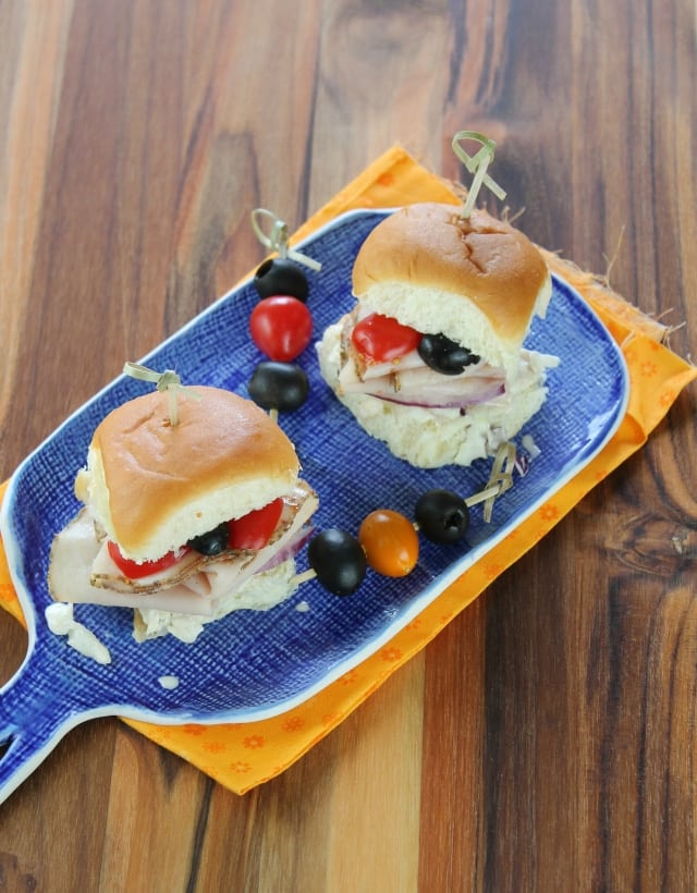 Italian Turkey Sliders with Red Onion Balsamic Slaw