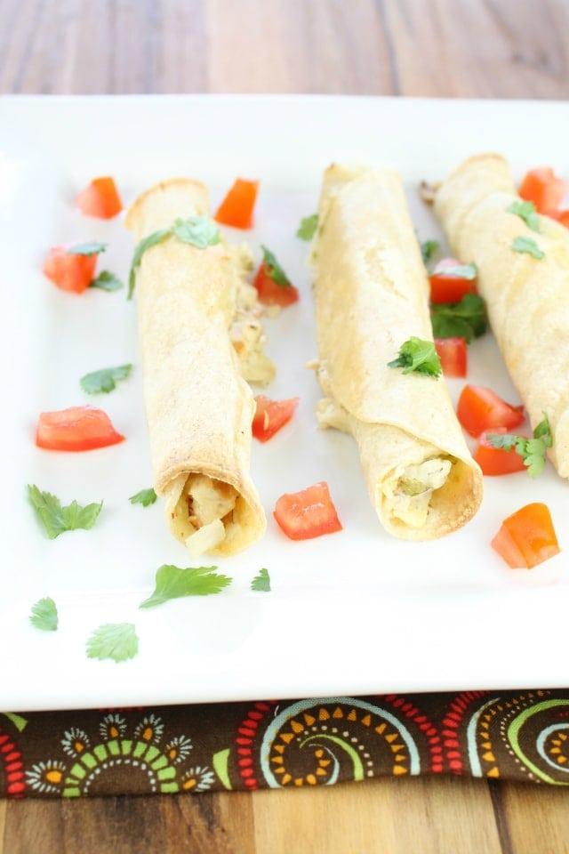 Chicken Artichoke & Jalapeño Taquitos   Miss in the Kitchen