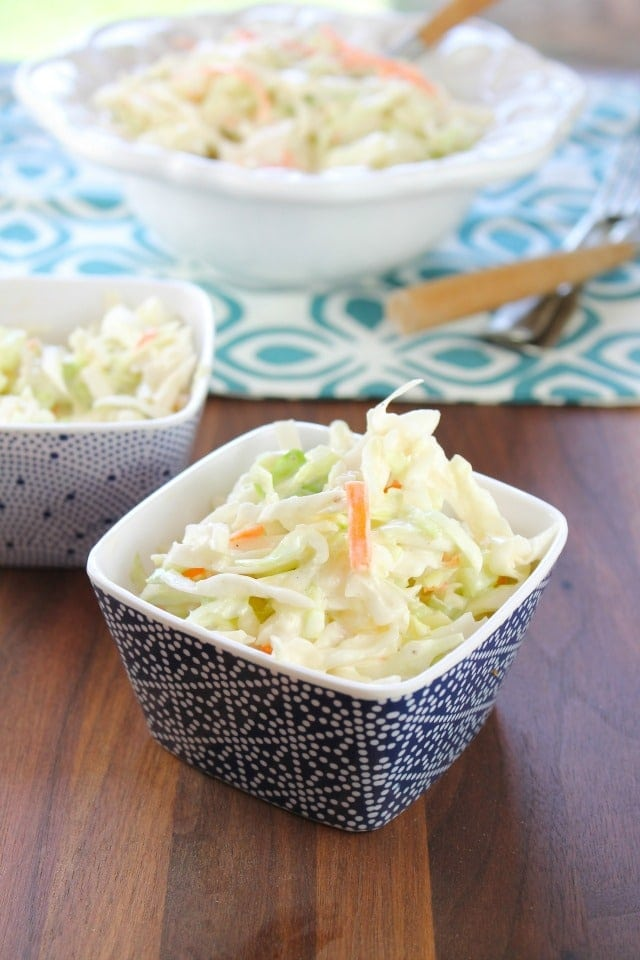 Creamy Coleslaw from Miss in the Kitchen