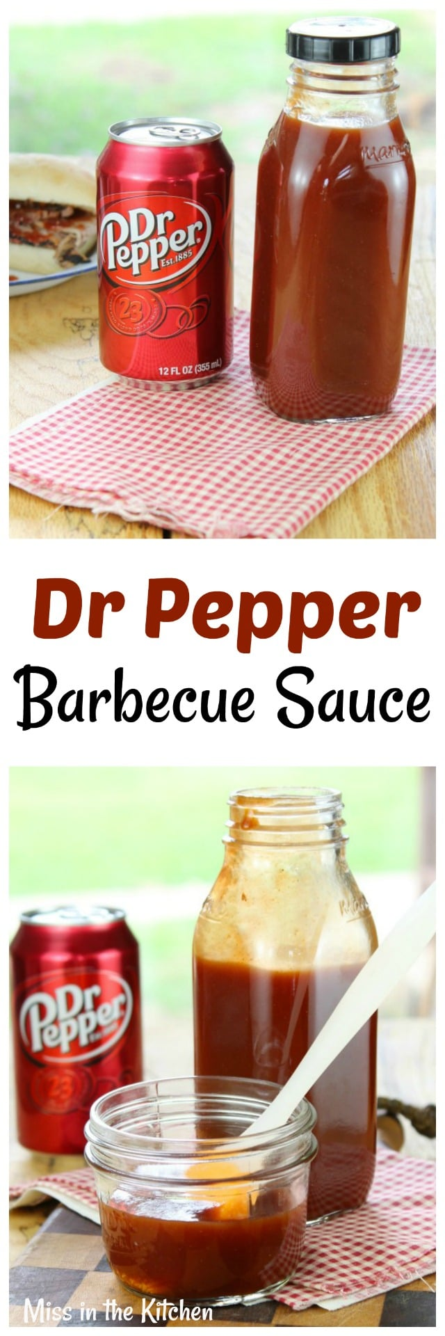 Dr Pepper Barbecue Sauce Recipe ~ Easy homemade barbecue sauce perfect for grilling or as a dipping sauce From MissintheKitchen.com #Barbecue