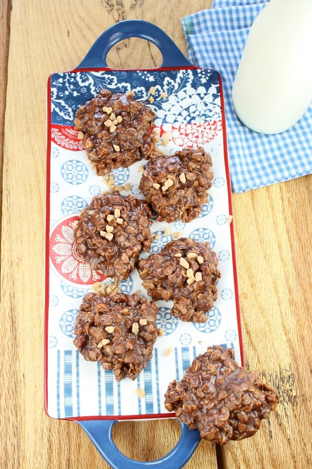 No-Bake Chocolate Toffee Cookies from Miss in the Kitchen