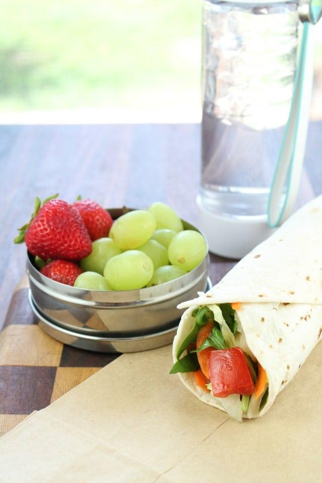 BLT Wraps with Strawberry Vinaigrette from missinthekitchen.com