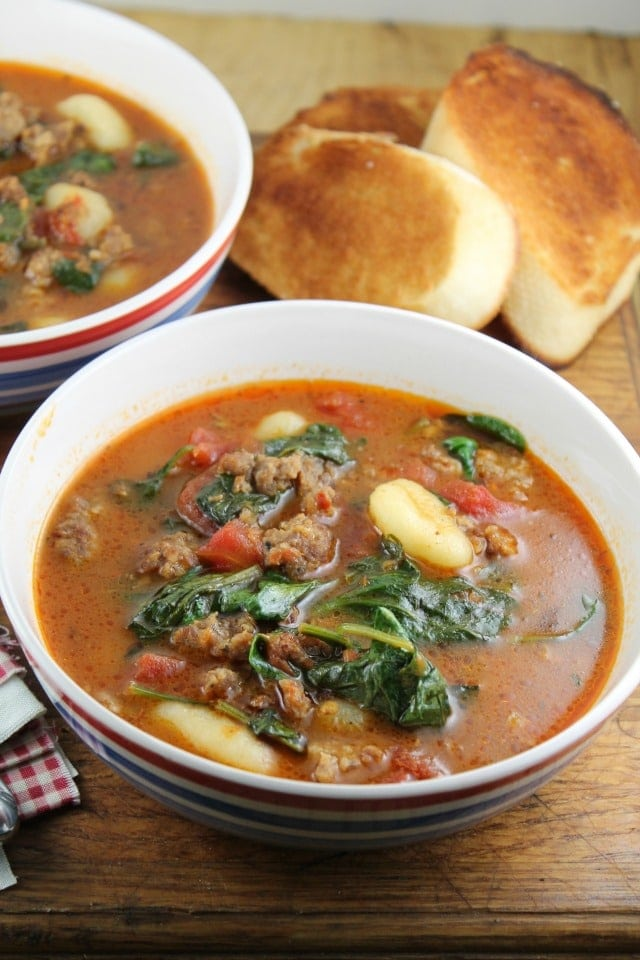 Italian Gnocchi Soup - missinthekitchen.com