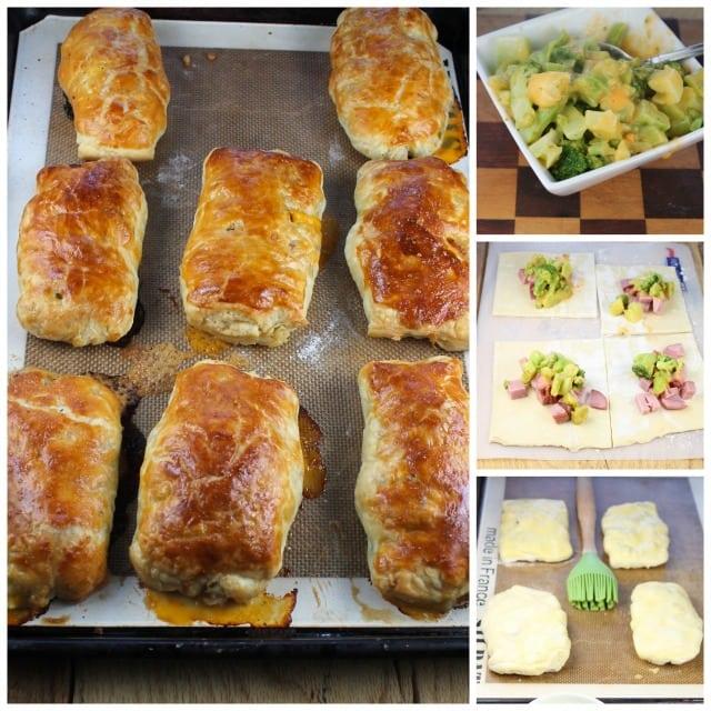 Broccoli Cheese & Ham Pockets