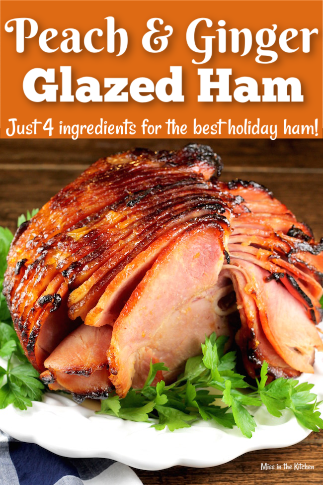 4 Ingredient Peach and Ginger Glazed Ham with Petit Jean Meats