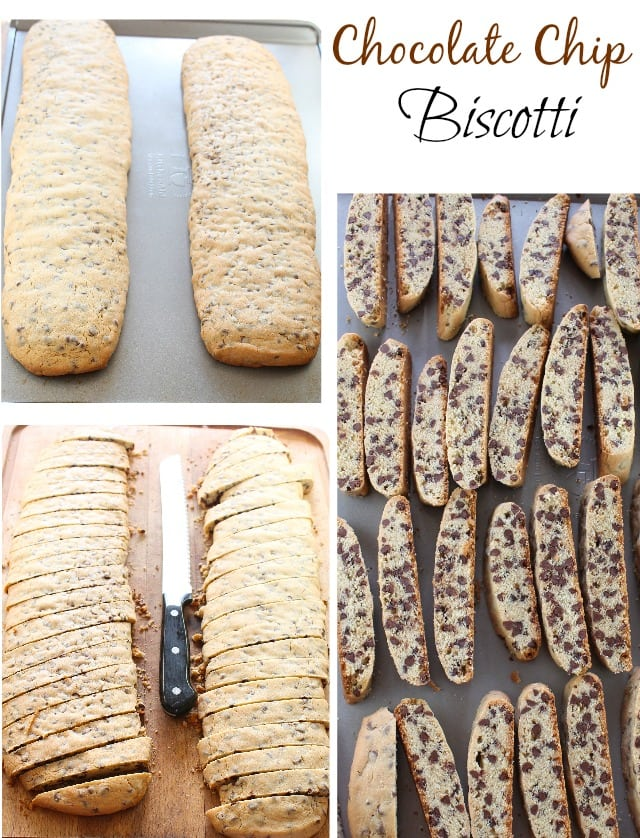 Chocolate Chip Biscotti Recipe from MissintheKitchen #FBCookieSwap