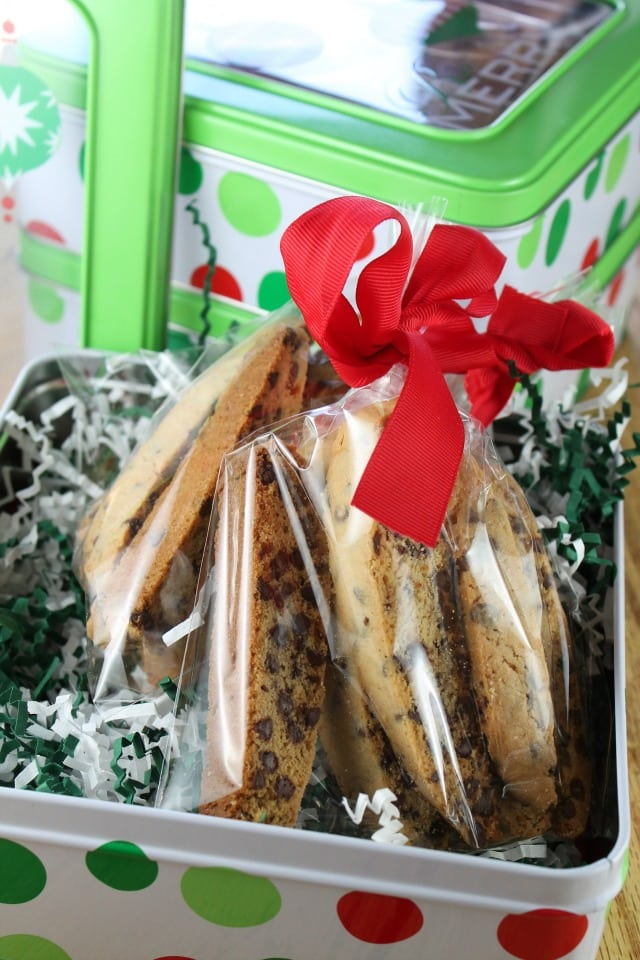 Chocolate Chip Biscotti Miss in the Kitchen