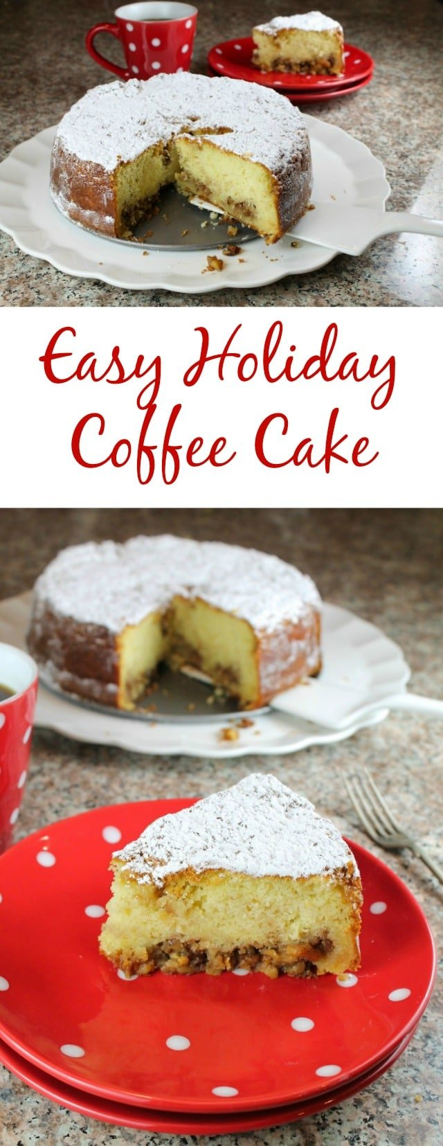Easy Holiday Coffee Cake Recipe from Miss in the Kitchen