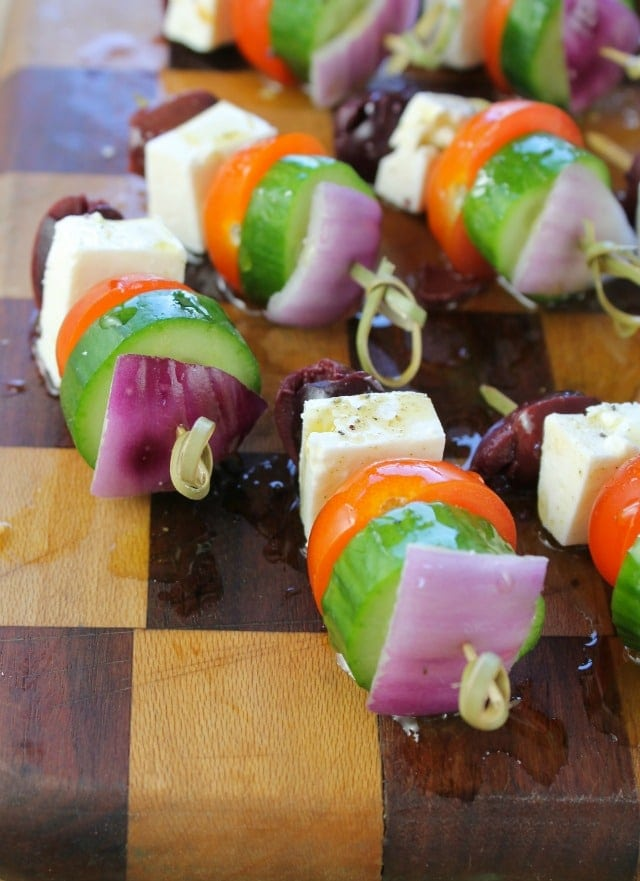 Greek Salad Skewers  Miss in the Kitchen
