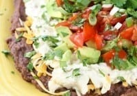 Artichoke and Jalapeño 7 Layer Mexican Dip