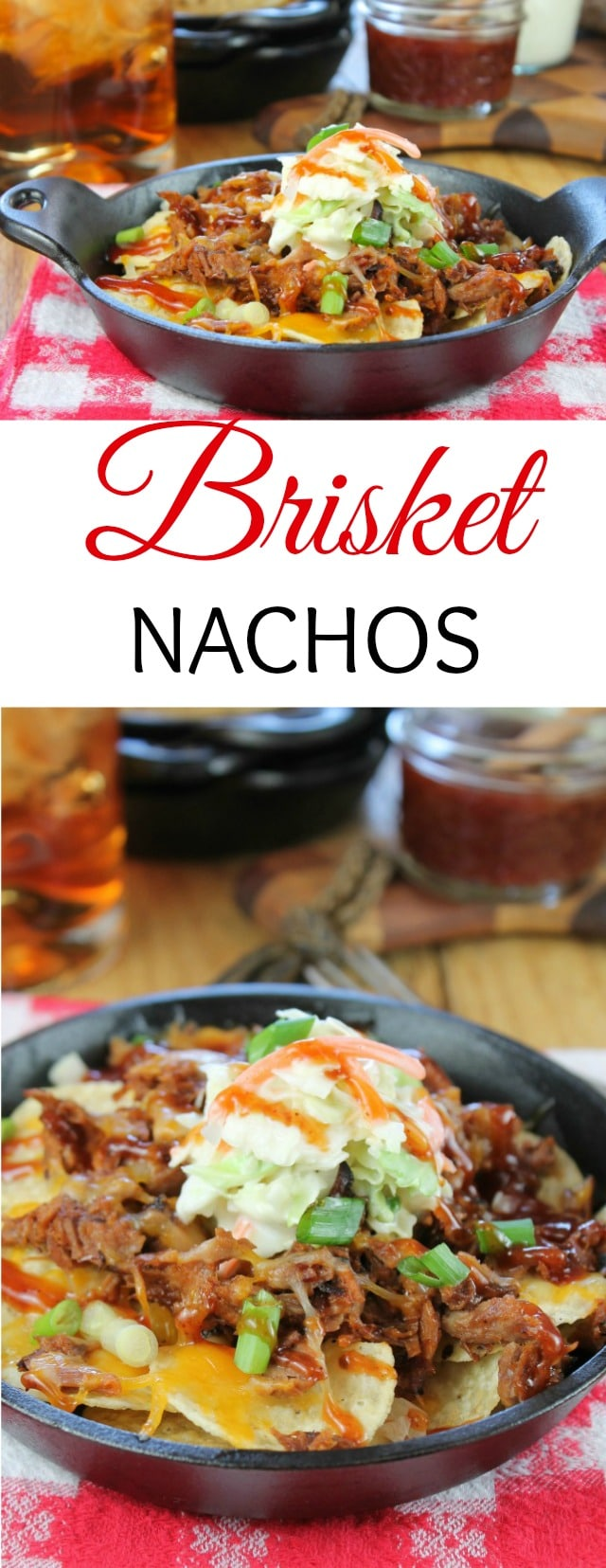 Brisket Nachos Recipe with barbecue sauce