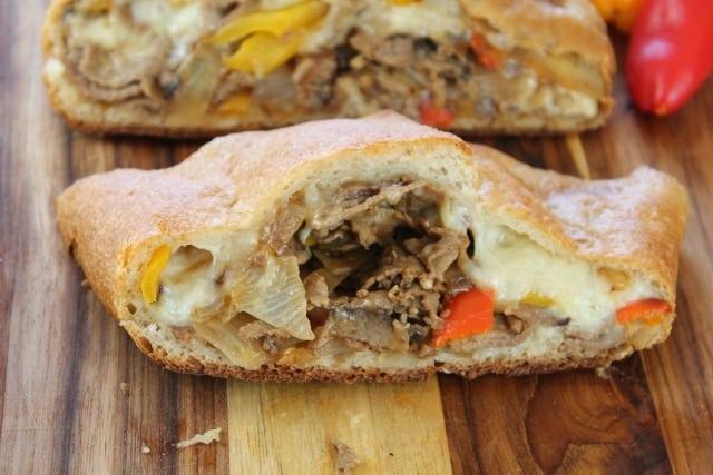 Easy Cheesesteak Stromboli from missinthekitchen.com