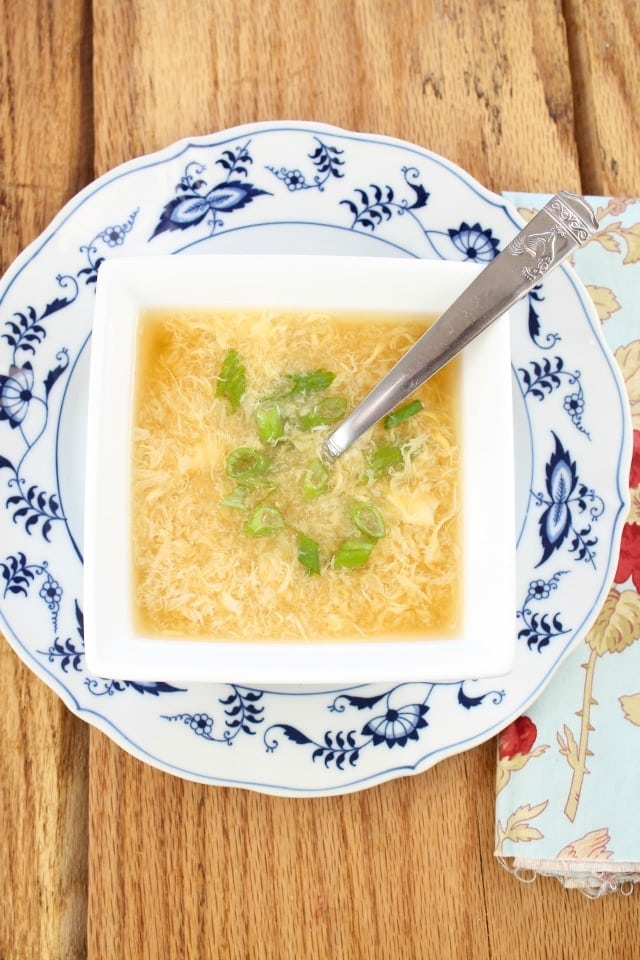 Egg Drop Soup from Miss in the Kitchen ~ A delicious and easy recipes that is better than take out! #ProgressiveEats
