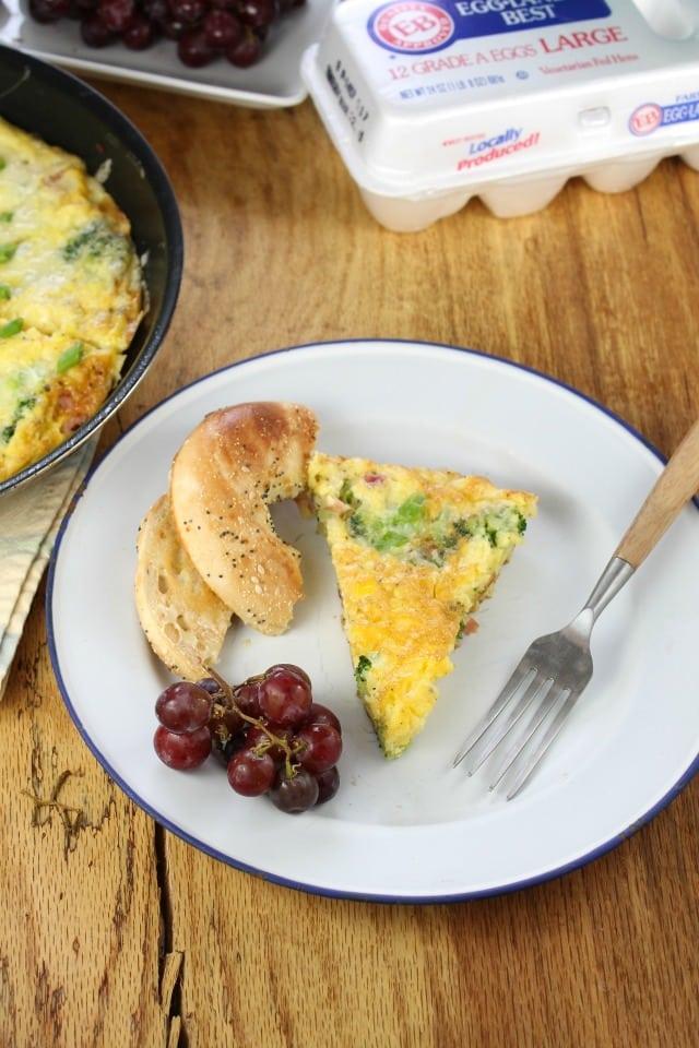 Ham & Broccoli Frittata from missinthekitchen.com