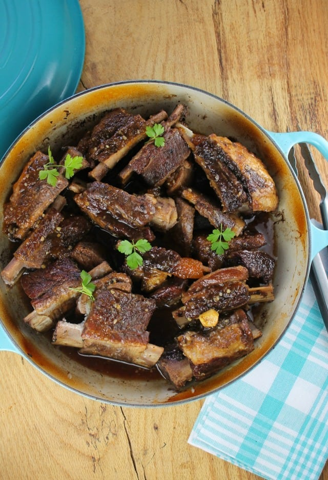 Peach and Ginger Braised Short Ribs Recipe from Miss in the Kitchen