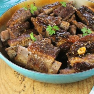 Peach and Ginger Braised Short Ribs  ~ missinthekitchen