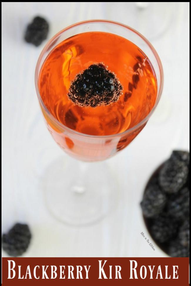 Blackberry Kir Royale Cocktail Recipe