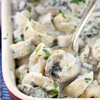 Chicken and Mushroom Tortellini Bake Recipe From Miss in the Kitchen