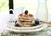 Gluten Free Blackberry Pecan Pancakes from Miss in the Kitchen