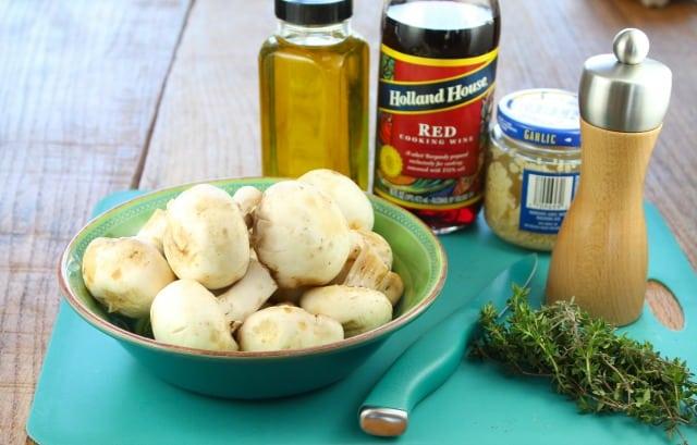 Ingredients for Red Wine Braised Mushrooms