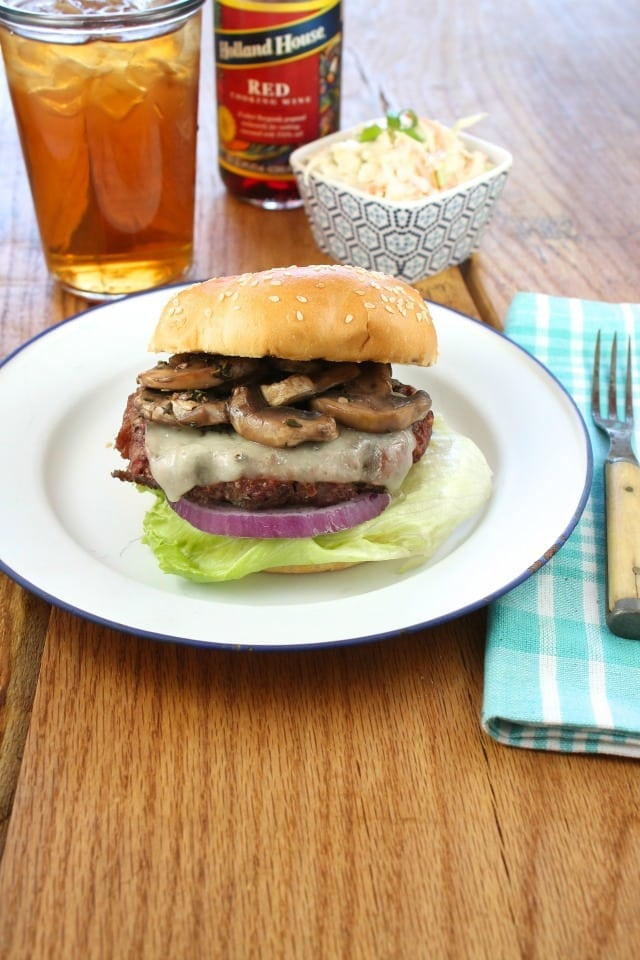 Red Wine Braised Mushroom Burgers from Miss in the Kitchen