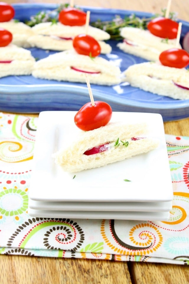 Easy appetizers Radish Sandwiches Recipe From Miss in the Kitchen