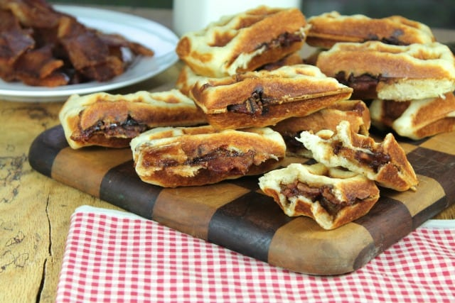Apple Butter and Bacon Stuffed Waffles | Miss in the Kitchen
