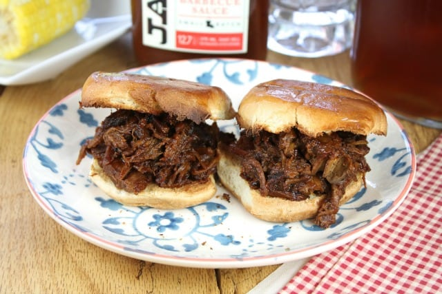 Barbecue Beef Sliders with JayD's Louisiana Barbecue Sauce from Miss in the Kitchen