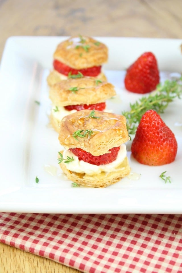 Strawberries and Cream Puff Pastry Bites Recipe from Miss in the Kitchen