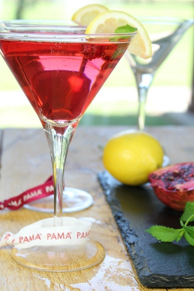 PAMA Summer Punch Cocktail ~ Celebrate Summer ~ Recipe from Miss in the Kitchen