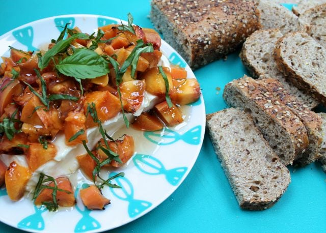 Grilled Peaches appetizer from missinthekitchen