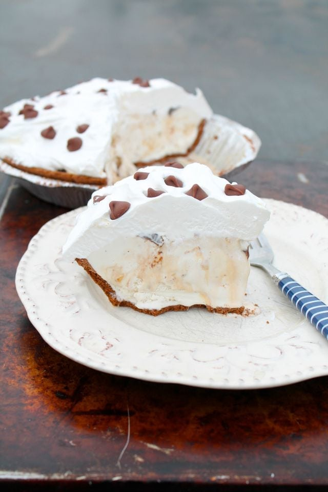 Salted Caramel Hazelnut Ice Cream Pie from Miss in the Kitchen