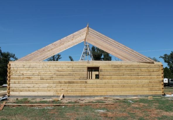 Gable End with Rafters