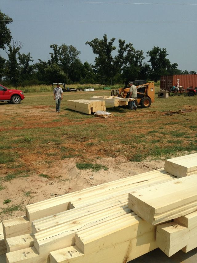 Log Stacks for Log Cabin  missinthekitchen #LogCabinSaturday