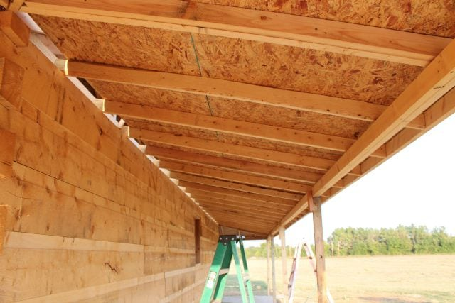 Long view of Porch Roof - underside ~ Log Cabin Saturday #4 Miss in the Kitchen
