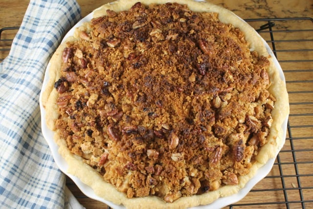 Apple Pie with Pecan Crumble from miss in the Kitchen #kerrygold