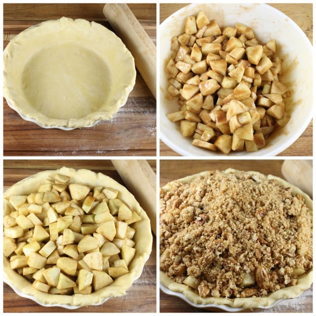 Apple Pie with Pecan Crumble from missinthekitchen