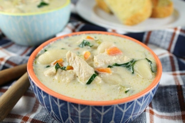Chicken Gnocchi Soup Recipe from Miss in the Kitchen