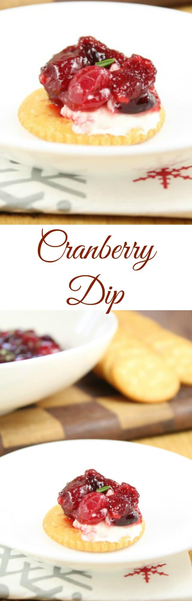 Cranberry Dip Holiday Appetizer ~ Recipe from Miss in the Kitchen #ad