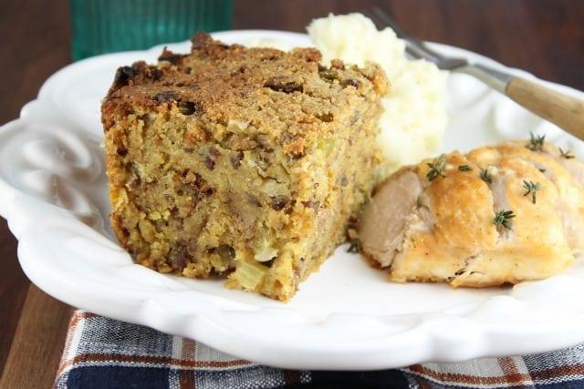 Sausage and Cornbread Dressing Recipe from missinthekitchen