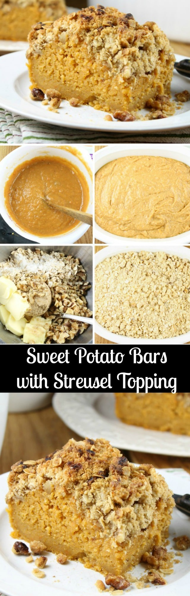 Sweet Potato Bars with Streusel Topping Recipe found at MissintheKitchen.com with Bob Evans Farms #Sponsored