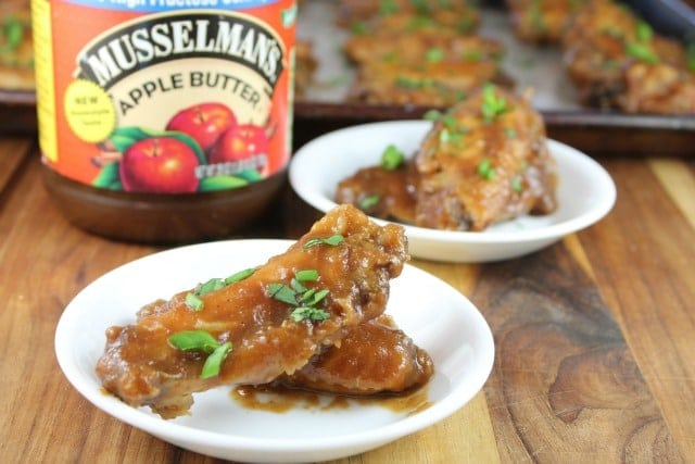 Musselman's Apple Butter creates a delicious Asian Glaze in this Asian Chicken Wings Recipe from MissintheKitchen.com