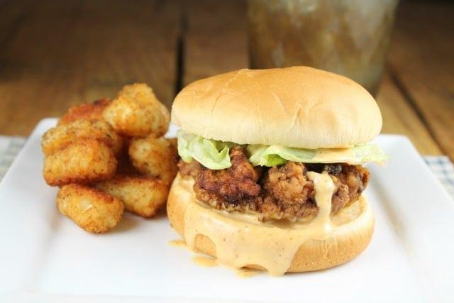 My favorite comfort food: Chicken Fried Steak Sandwiches Recipe from Missinthekitchen.com
