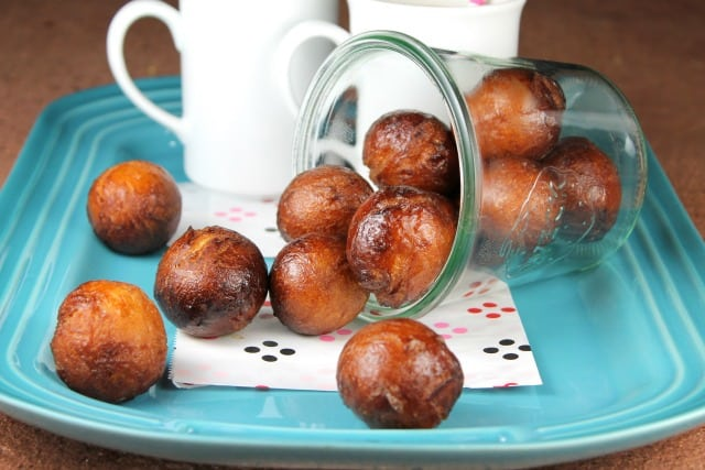 Chai Latte Glazed Donut Holes Recipe from Miss in the Kitchen