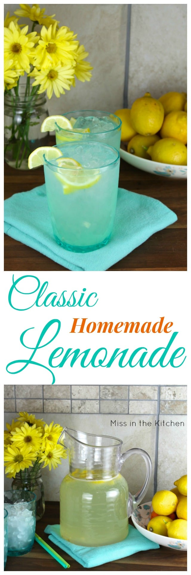 Recipe for Classic Homemade Lemonade with Wayfair #SpringInspiration #ad
