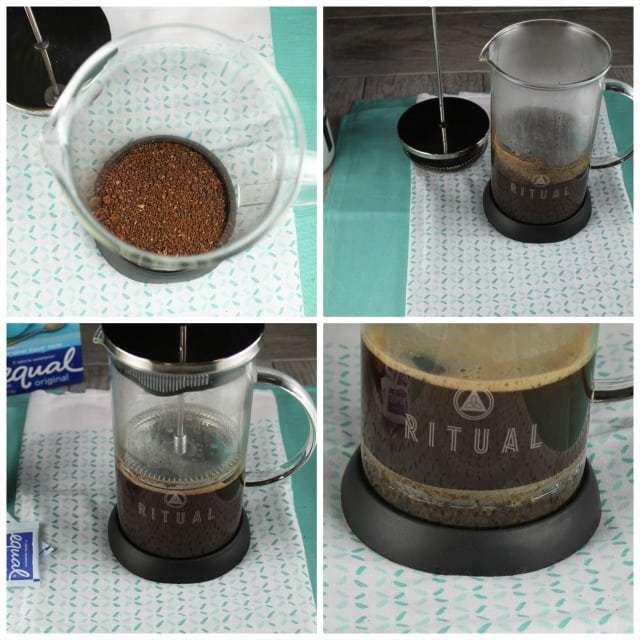 French Press Coffee for Vanilla Bean Iced Coffee ~ MissintheKitchen.com
