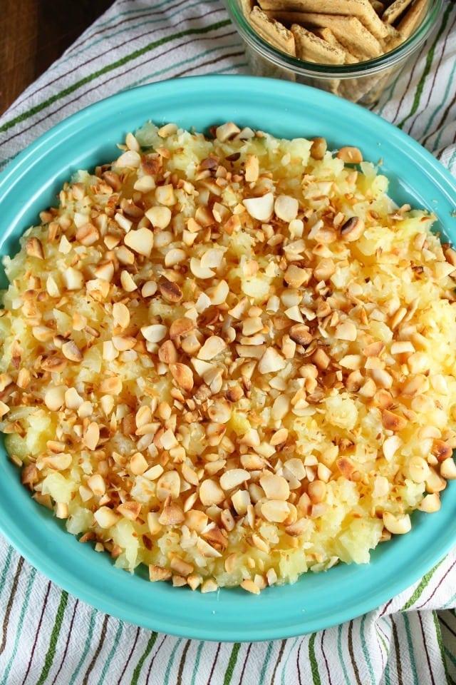 Pineapple Cream Cheese Pie Dip from MissintheKitchen.com
