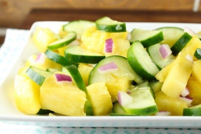 Pineapple Cucumber Salad ~ MissintheKitchen.com